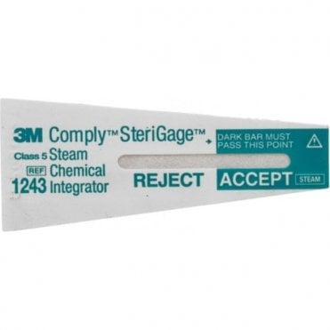 3M Comply SteriGage Steam Chemical Integrator (1243B)