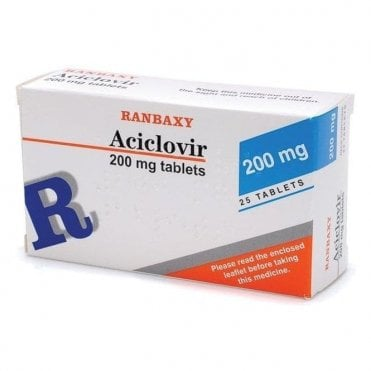 Ranbaxy Aciclovir 200mg Dispersible Tablets - Pack25
