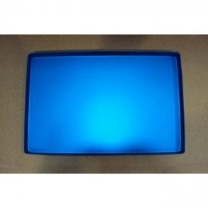 AM Dental Instrument Tray Aluminium Blue Plain - Each