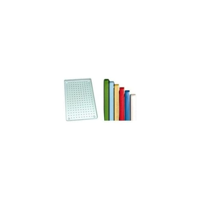 AM Dental Instrument Tray Aluminium Green Perforated - Each