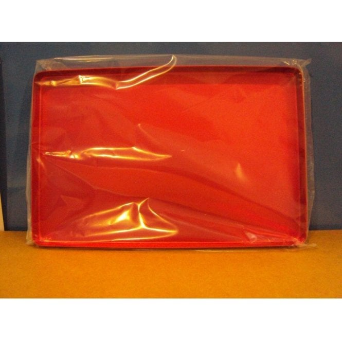 AM Dental Instrument Tray Aluminium Red Plain - Each