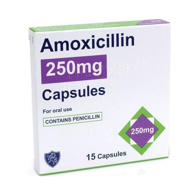 Amoxicillin 250mg Capsules - Pack15