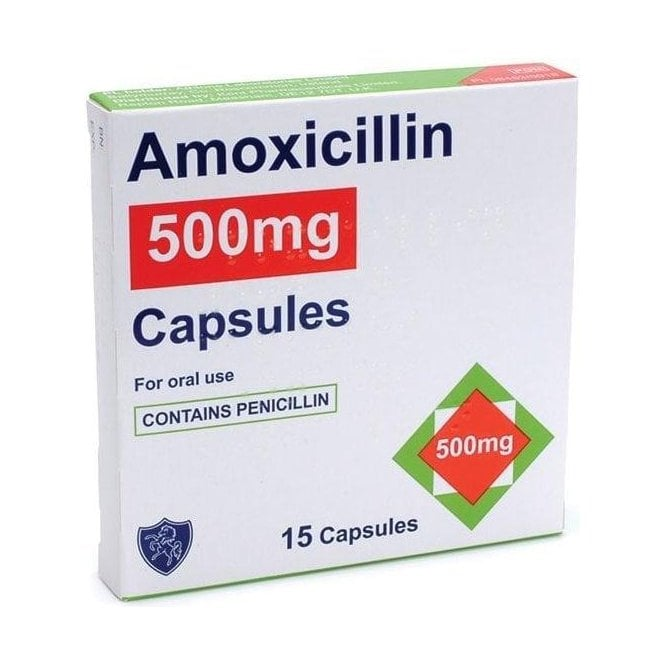 Amoxicillin 500mg Capsules - Pack15