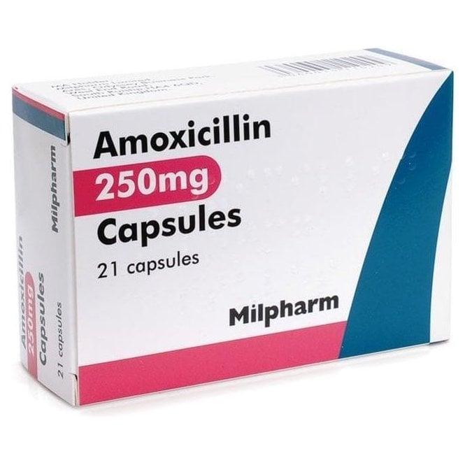 Amoxicillin Capsules BP 250mg - Pack21