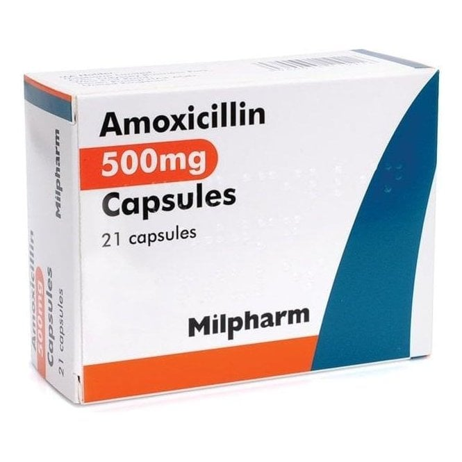 Amoxicillin Capsules BP 500mg - Pack21