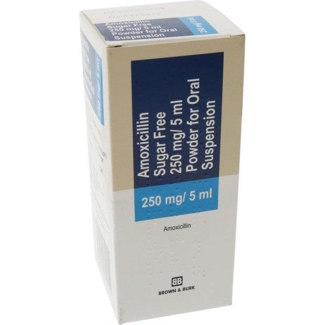 Amoxicillin Suspension S/F (Sucrose free) 250mg/5ml 100ml
