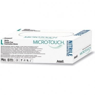 Ansell Micro-Touch Gloves Nitrile Medium - Box100