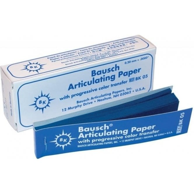 Bausch Articulating Paper Blue Straight BK05 - Box300