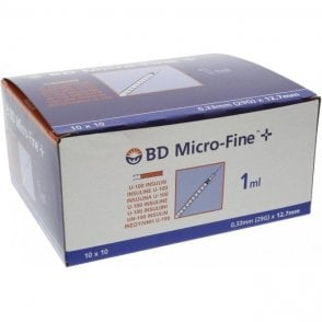 BD Insulin Syringe Microfine 1ml 29Gx12.7mm - Pack100