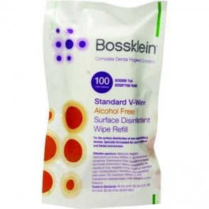 Bossklein Surface Disinfectant V-Wipes AF BOS97766-Refill100