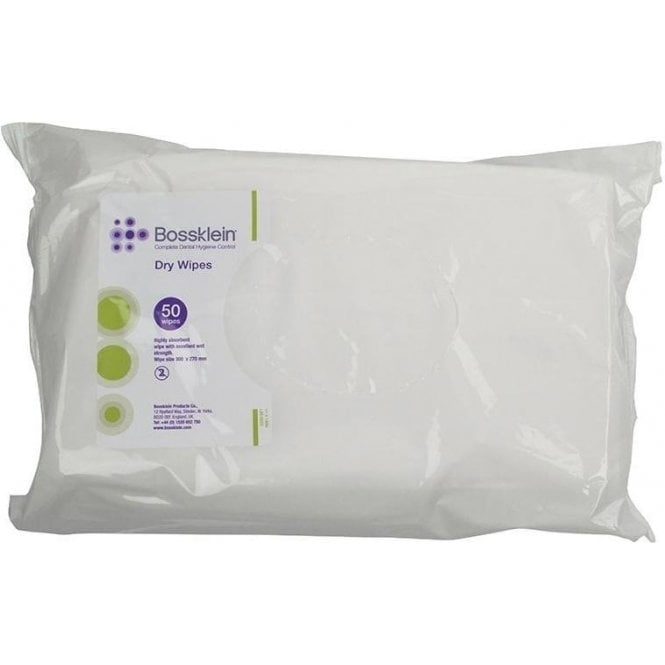 Bossklein White Dry Wipes (DRY0002) - Pack50
