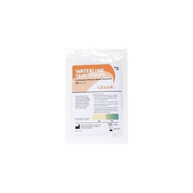 UnoDent Waterline Test Strips (GGC100) - Pack50