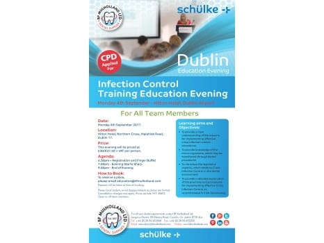 Schulke Infection Control Education Evening in Dublin - Monday 4th September 2017