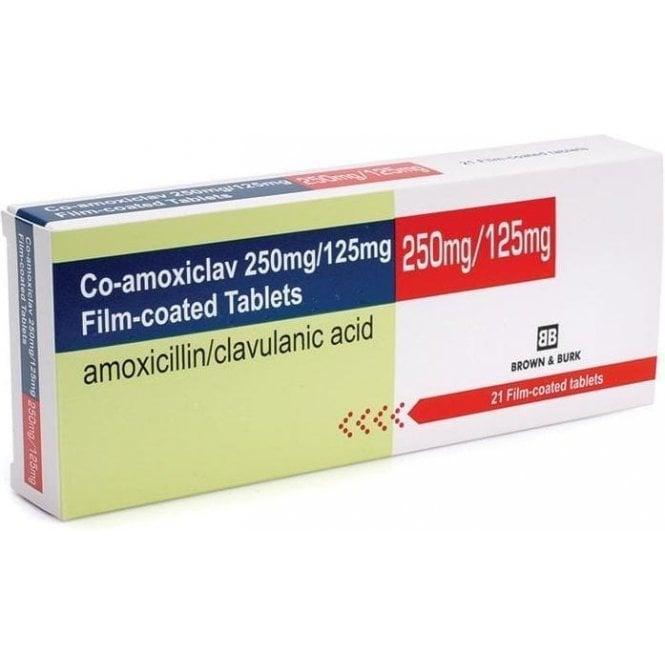 Co-Amoxiclav 375mg Tablets - Pack21