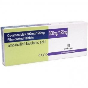 Generic Co-Amoxiclav 625mg Tablets - Pack21