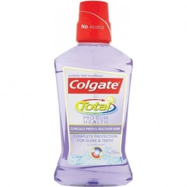 Colgate Total Pro Gum Health Mouthrinse Alcohol Free 6x500ml