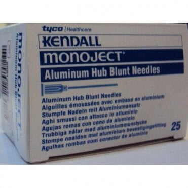 "Covidien Monoject Blunt Cannula 19gx1.5"" (8881202355) -Box25"