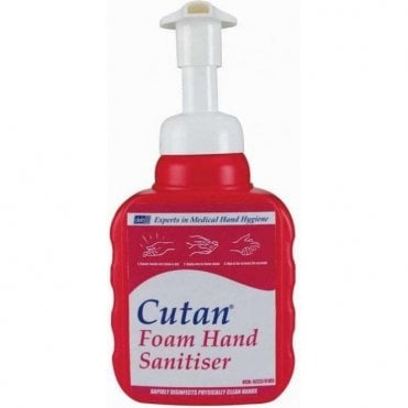 Deb Cutan Foam Hand Sanitiser 12x400ml Pump CFS400P - Pack12
