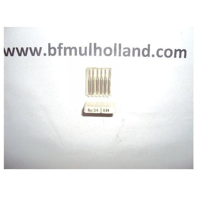 Dentsply Steel Burs Flat Fissure Cross Cut Size 4 RA 34/014
