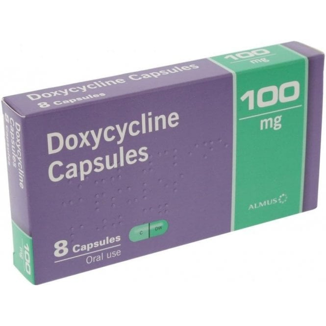 Doxycycline Capsules 100mg - Pack8
