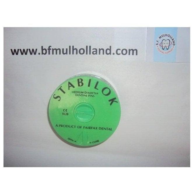 Fairfax Stabilok Jumbo Pins Steel Medium Green - Pack100