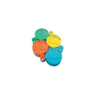 Fairfax Stabilok Pins Titanium Small Yellow - Pack20