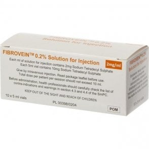 Fibrovein 0.2% Vials (FV02510UK) - Pack10