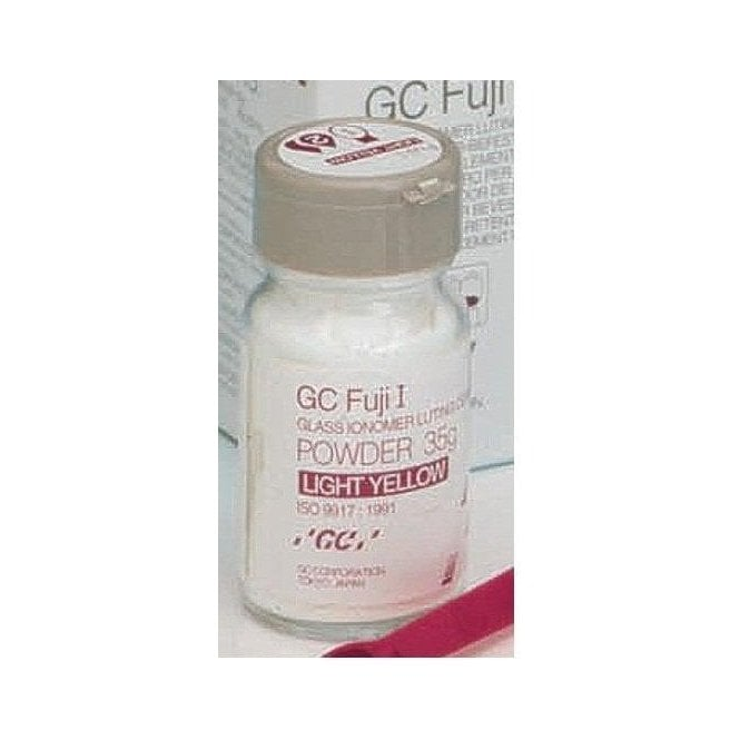 GC Fuji I Powder Light Yellow 35g Luting Cement 000134 -Each