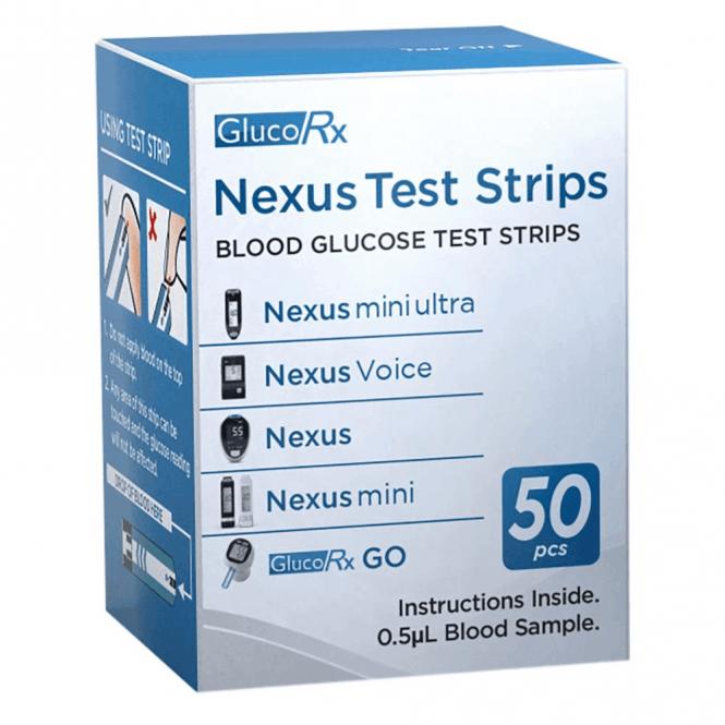 GlucoRx Nexus Test Strips (GLU403L) - Pack50