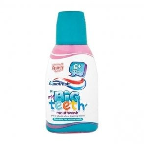 GSK Aquafresh Big Teeth Mouthwash 6x300ml (02749) - Pack6