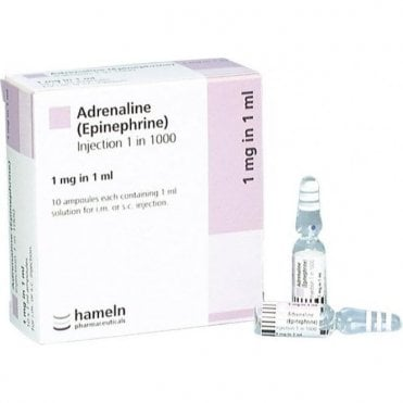 Hameln Adrenaline 1:1000-1mg 1ml Ampoules - Box10