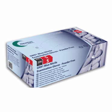 HPC HandSafe Blue Nitrile Gloves P/Free Medium GN91 - Box200