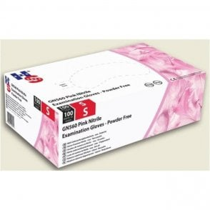 HPC HandSafe Pink Nitrile Gloves Small (GN560) - Box100