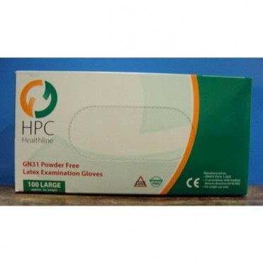 HPC Healthline Gloves Powder Free E/Large GN31 - Box100