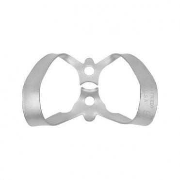 Hu-Friedy 9 Satin Steel Rubber Dam Clamp (RDCM9) - Each