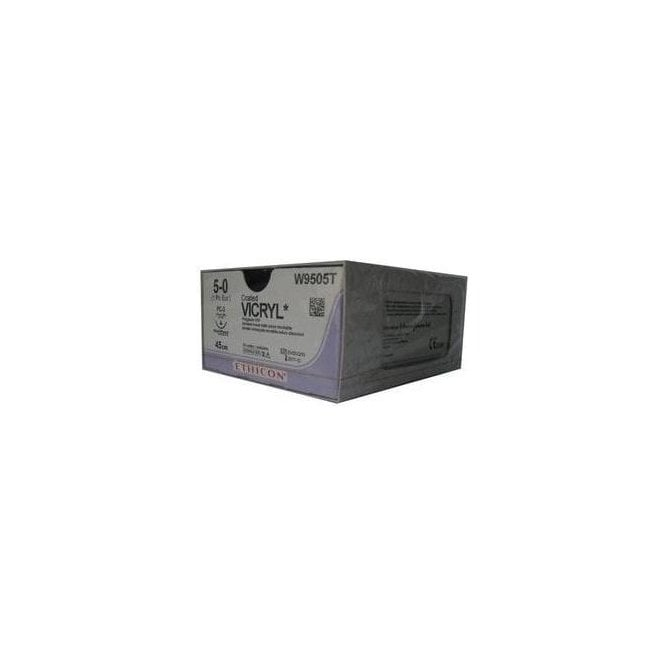 Johnson & Johnson Ethicon Sutures Vicryl 5/0 (W9505T) -Box24