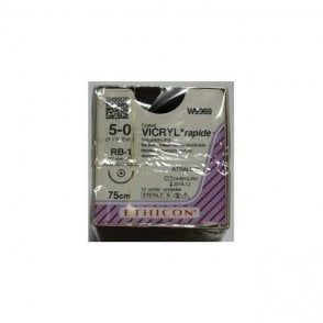 Johnson & Johnson Ethicon Sutures Vicryl Rapide 5/0 (W9969)