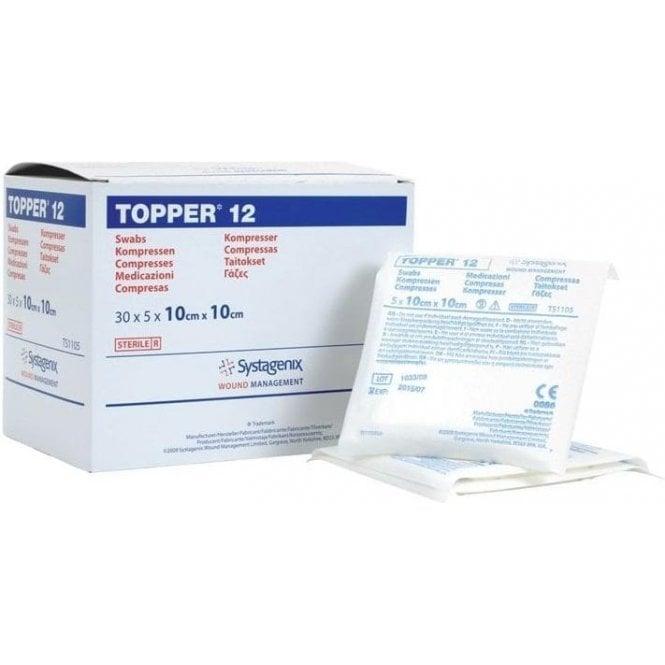 Johnson & Johnson Topper 12 Sterile Swabs 10x10cm - Pack150