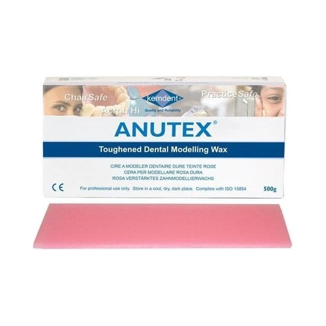 Kemdent Anutex Toughened Dental Modelling Wax 500g - Each