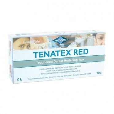 Kemdent Tenatex Red Sheet Wax 500g - Each