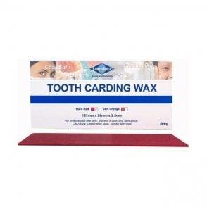 Kemdent Tooth Carding Wax Hard Red 500g - Each
