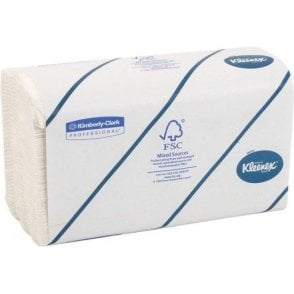 "Kimberly-Clark Kleenex Ultra Hand Towel 9"" White (6772)"