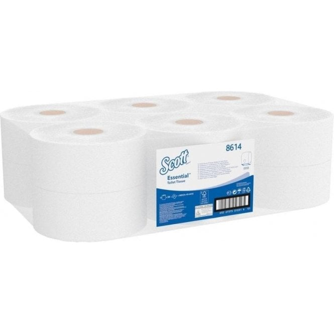 Kimberly-Clark Mini Jumbo Toilet Rolls 8614 (12X200m=2400m)