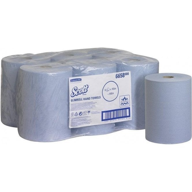 Kimberly-Clark Scott Slimroll Hand Towels Blue 6658 - Case6