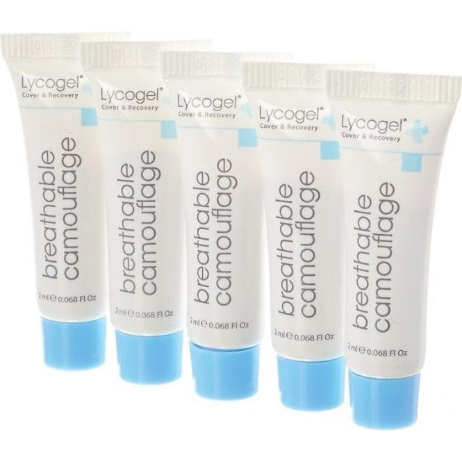 Lycogel 2ml Breathable Camouflage Tubes Beige 5x2ml