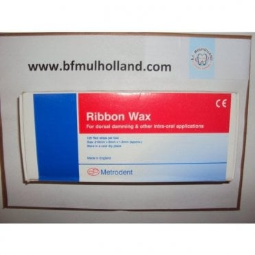 Metrodent Ribbon Wax Red - Box126