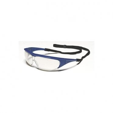 Millennia Safety Glasses Blue Frame / Clear Lens - Each