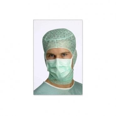 Molnlycke Barrier Surgical Face Masks Green Tie-On 4239 - 60