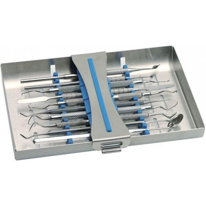 Nichrominox Instrument Cassette Ergo Clip 10 Blue - Each
