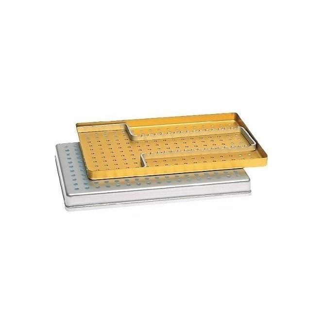 Nichrominox Large Instrument Tray Perforated Silver 28x18cm